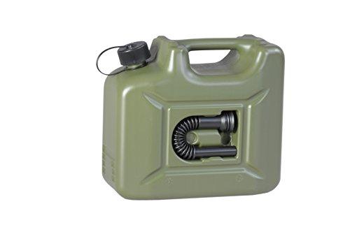 hünersdorff Kraftstoff-Kanister PROFI 10l für Benzin, Diesel und andere Gefahrgüter, UN-Zulassung, made in Germany, TÜV-geprüfte Produktion, oliv