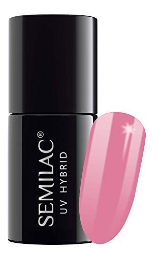 SEMILAC Bubblegum Pink 060 UV LED Gel Hybrid by Semilac Paris