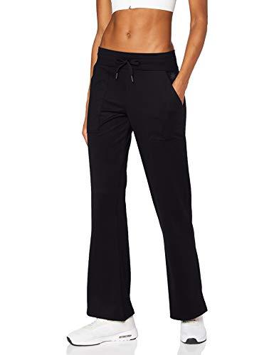 AURIQUE Damen Yoga-Hosen, Schwarz (Black), 40, Label:L