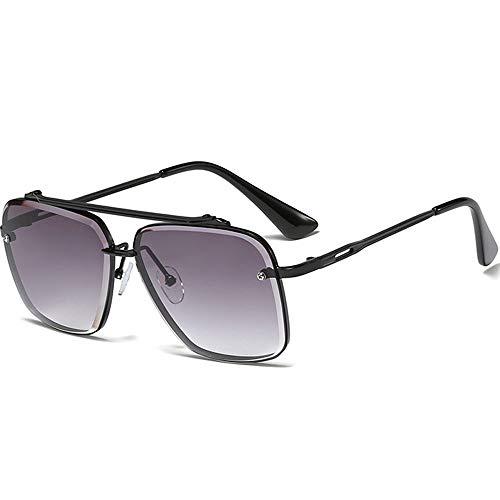 SHEEN KELLY Retro Metall Sonnenbrille Randlose Vintage Square Sonnenbrille Herrenmode 100% UV400 Schutz für den Außenbereich
