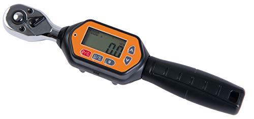 Beslandsデジタルトルクレンチ 12-60N デジタルミニレンチ プリセット型 差込角9.5mm (3/8インチ) 双方向ラチェットヘッド バイク用 タイヤ交換 ねじ ボルト ナット用小トルクレンチ ケース付き