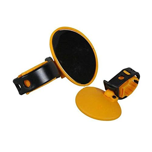 THDZCP When The Bicycle Handlebar Rubber Rearview Mirror Rotates 360 Degrees As The Accessory (Color : Yellow)