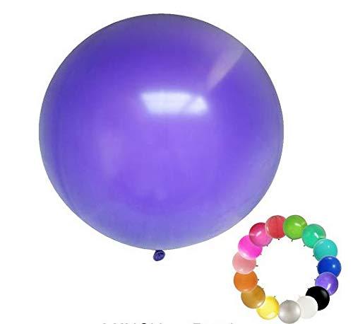 2 pcs--36 Inch Round Balloons Latex Balloons / Wedding/Birthday Party Decorations/Photo Shoot/Festivals Christmas Decorations (purple)