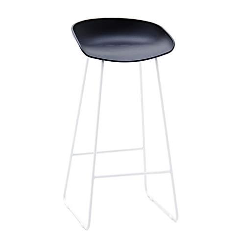 ZRXian-Tabourets Mode Fer Forgé Bar Tabouret Cuisine Petit Déjeuner Chaise Arrière Repose-pieds Design Noir (Hauteur Assise: 75CM)