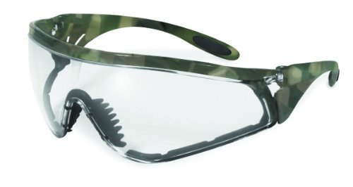 SSP Eyewear Safety Glasses with Military ACU Camo Frames and Clear Anti-fog Lenses, YAKIMA CL A/F