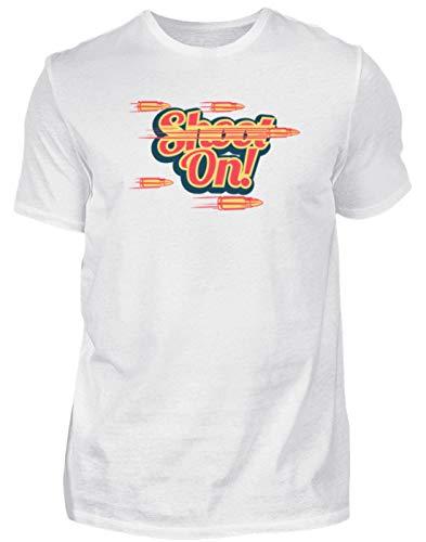 Camiseta de caza para hombre, diseño de cazador Blanco L