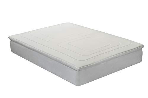 Classic Blanc - Topper/Sobrecolchón Viscoelástico antiácaros y bacterias, 5cm (3+2). Cama 150 - 150 x 190 cm (Todas las medidas)
