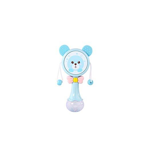 Música ligera linda del canto de tambor de dibujos animados martillo de la arena Molar Bebé de la dentición Los primeros juguetes educativos para niños Azul