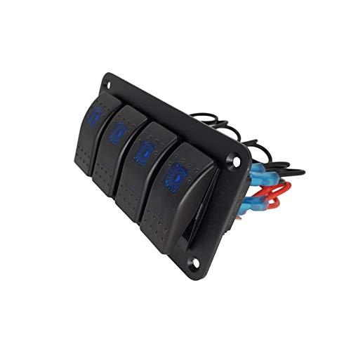 POLKMN Bote Rocker Interruptor Panel LED Circuito de la luz Interruptor Interruptor Ajuste para el automóvil Caravan Trailer Trailer Marine Boat Toggle Switch (Color : Red)