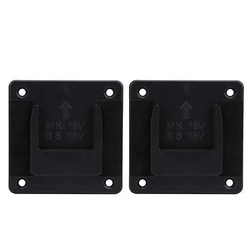 Conkergo 2Pcs Machine Holder Wall Mount Storage Bracket Fixing Devices for Makita 18V Electric Tool(Black)