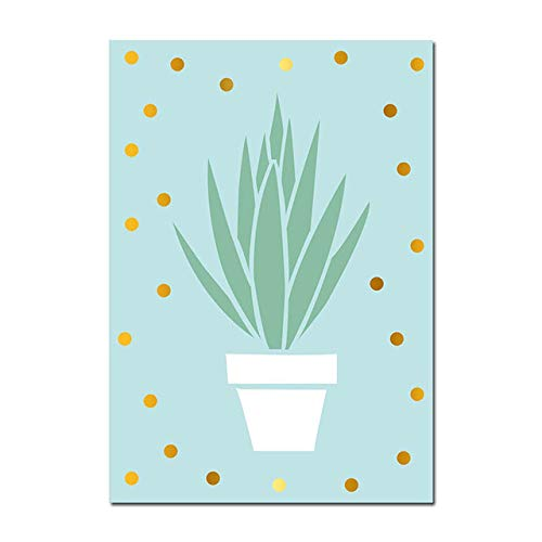 Cactus Green Plant Canvas Wall Art Poster Nursery Print Painting Minimalist Decorative Picture Home Living Room Decoration (Sin Marco)