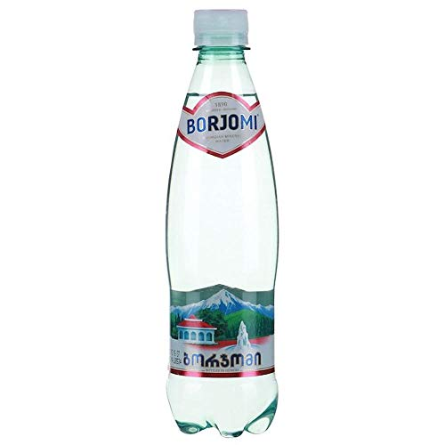 Mineral Carbonated Water Borjomi Sparkling Water in Plastic 0,5l Bottle Pack of 24 (2x12)