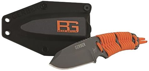 Gerber Bear Grylls Paracord - Cuchillo (163 g, 19,7 cm, Acero Inoxidable, 5Cr13MoV, Paracord, Naranja)