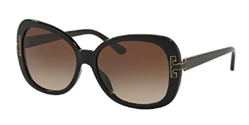 Tory Burch TY7133U 170913 57M Black/Brown Gradient Butterfly Sunglasses For Women+FREE Complimentary Eyewear Care Kit