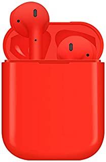Fosinz bluetooth5.0イヤホン ハイレゾ対応 完全ワイヤレス 片耳両耳 片耳 両耳とも対応 マイク内蔵 両耳通信 ハンズフリー通信 ランニング カナル型 充電ケース付き 高音質テレオ 完璧な代替品 iPhone7/iPhone8/Androidなど対応する 正規品(日本語説明書付き) (レッド)