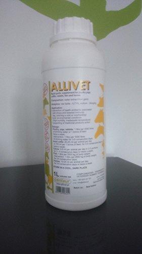 Allivet 1Liter 100% Flüssiges Knoblauchpräparat für Geflügel - Hühner und Pferde GP: 100ml = 1,99€