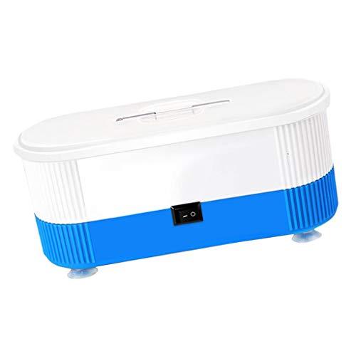 IPOTCH Machine de Nettoyage Portative pour Lunettes Mini Nettoyeur Automatique pour Lunettes - Bleu