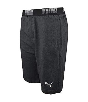 PUMA- Elastic Waistband Lounge Shorts Heather Size Medium from Puma