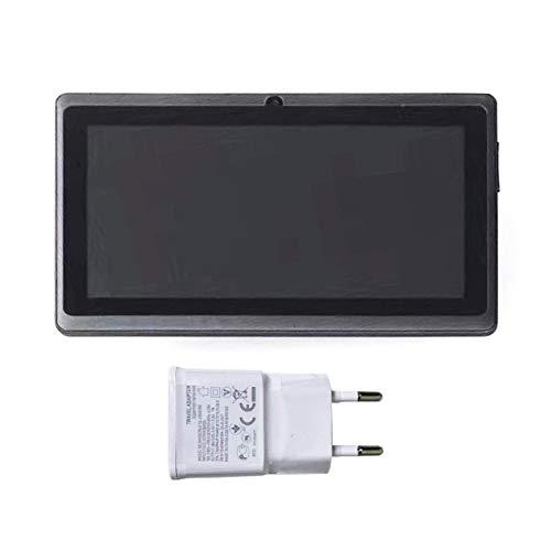 DBSUFV Pantalla LCD TFT de 7 Pulgadas Tableta para niños de Doble núcleo Mini computadora portátil PC 8G para Android Aprendizaje Juguete Educativo Negro (Negro
