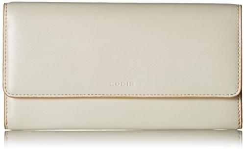 Lodis Women's Audrey RFID Luna Clutch Wallet, Cream/Natural, One Size