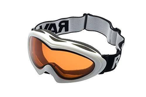 Ravs Damem skibril, helmcompatibel, dubbel glas, 100% uv-bescherming, Xtra + spiegelglazen, beste contrast