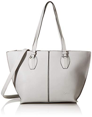 Gabor Shopper Damen, Hellgrau, Riva, 42x13x27 cm, Handtasche groß, Umhängetasche