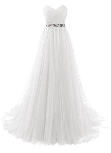 White Strapless Prom Dress Tulle Princess Evening Gowns with Rhinestone Beaded Belt Size 20W