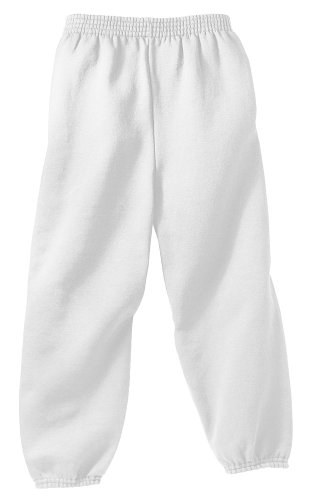 Joe's USA - Youth Soft and Cozy Sweatpants White. Size Youth M(10-12)