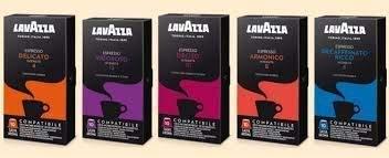 Caffè Lavazza MIX di 100 capsule LAVAZZA compatibili NESPRESSO - Miscele: Armonico (20pz), Delicato...