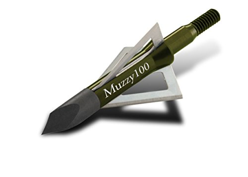 Muzzy 225 Bowhunting 100 Grain, 3 Blade Broadhead, 1-3/16' Cutting Diameter, 6 Pack,MULTI
