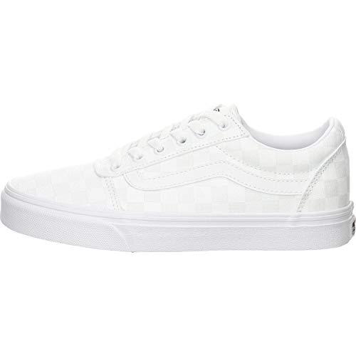 Vans Damen WM Ward Sneaker, Weiß ((Checkerboard) White/White W51), 39 EU