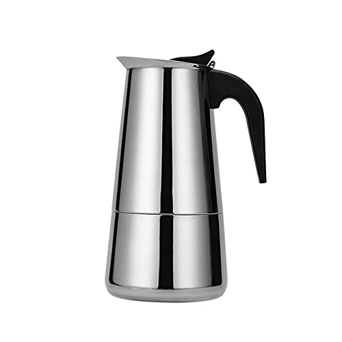 RUMUI Olla Moka de Acero Inoxidable de 300 ml / 450 ml, cafetera Moka, Estufa, cafetera Espresso con Leche para el hogar, Cocina, cafetería, Oficina