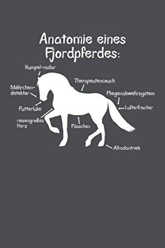 Anatomie eines Fjordpferdes: Punktiertes Notizbuch mit 120 Seiten - 15x23cm