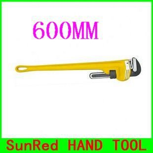 Marque Jaune Poignée Hrc58–60 600 mm 61 cm outils de plomberie Clé serre-tube, NO. 10824 vente en gros