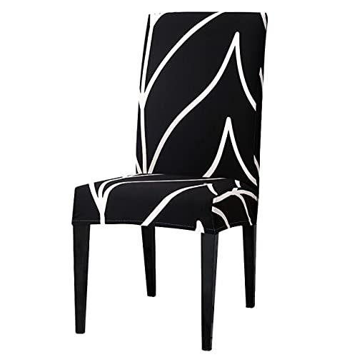 2/4/6 pezzi di copertura protettiva per sedia da cucina in fibra elasticizzata stampata per sala da pranzo adatta per banchetti di nozze 2 pezzi A9