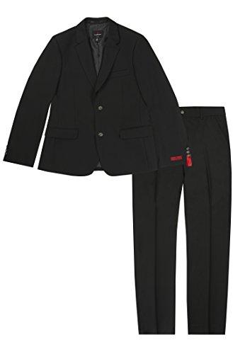 Lemmi Jungen Slim line MID Anzug, Schwarz (Caviar 1010), 152