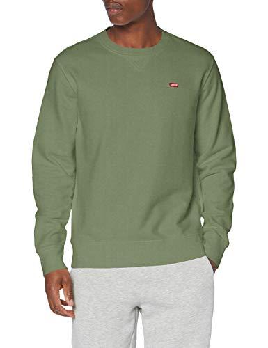 Levi's Crew Sudadera, Color Verde, XL para Hombre