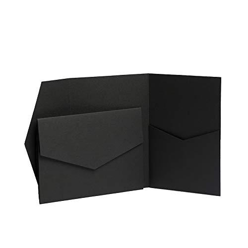 Pocketfold Invites jeweils recyceltem l/ädt 130/mmx185/mm jeweils mit recyceltem Briefumschl/äge aus l/ädt LTD