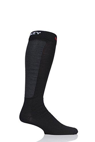 UpHill Sport Herren und Damen E8496 Hergestellt in Finnland 3 Schicht Eishockey Socken with Kevlar Packung mit 1 Schwarz 39-41