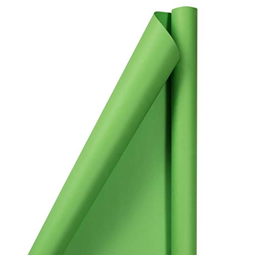 JAM PAPER Gift Wrap - Matte Wrapping Paper - 25 Sq Ft - Matte Lime Green - Roll Sold Individually