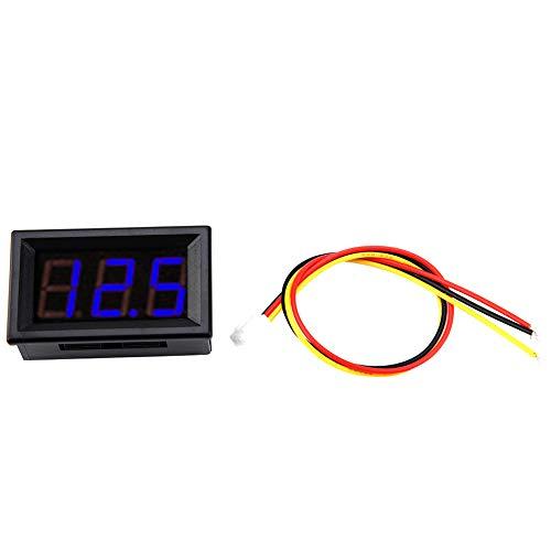 Voltímetro LED digital de 0,56 pulgadas, 3 cables, indicador preciso, medidor de...