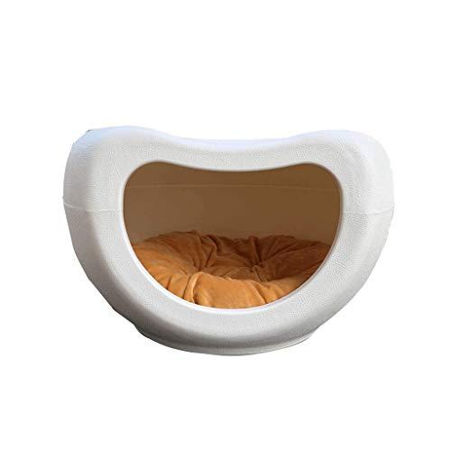 GCZZYMX Mongolische Kennel Dog House Cat Waschbar Vier Jahreszeiten Universal-Innen geschlossen Kunststoff Kennel Cat House Tierbedarf Mode Curved Entwurf