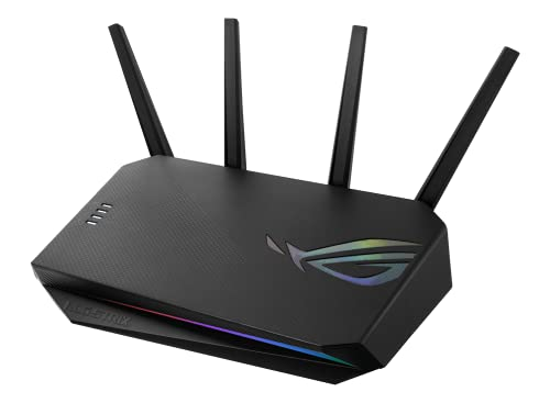 GS-AX3000 dual-band WiFi 6 gaming router, PS5 compatible, Mobile Game Mode, VPN Fusion, Instant Guard, Gear Accelerator, Gaming Port, Adaptive QoS, port forwarding, ASUS Aura RGB