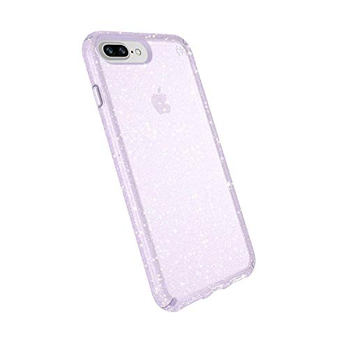Speck Products Presidio Glitter Case for iPhone 8 Plus, iPhone 7 Plus, and iPhone 6/6S Plus - Bulk Packaging - Geide Purple Clear/Gold Glitter