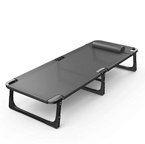 GLYHVXZ Letto Pieghevole della Base di Campeggio Esterna Portatile Beach Bed Letto da Campo Ufficio Pranzo Bed Lounge Chair può sopportare,C