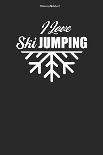 Skisprung Notizbuch: 100 Seiten | Punkteraster | Ski Skispringen Springer Springen Team Schanze Skier Skisprungschanze Skispringer Skisprung Ski Sprung Geschenk Skischanze