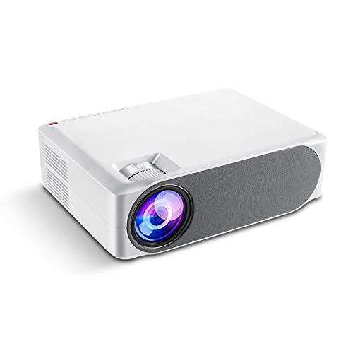 AWJK Mini Beamer mit Screen Mirroring,6000 Lumen Heimkino Beamer Full HD 1080P Video Beamer mit 300' Display,30000 Stunden LCD Beamer kompatibel mit HDMI/USB/SD/AV/VGA