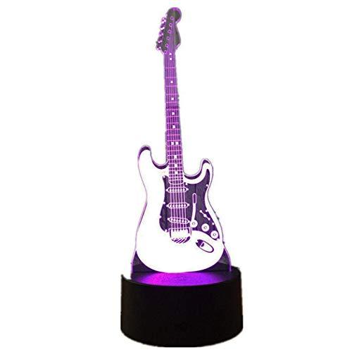 Gitarre 3D Light Touch kreative Welt Fackel Geschenk Tischlampe, Gebrauch im Haus Orte, Hotels, Freizeit und Unterhaltung Orte, Ausstellungshallen, Flure