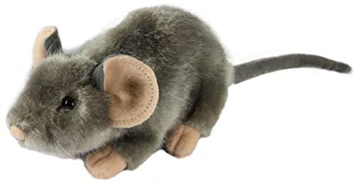 Zaloop Maus grau ca. 17 cm Plüschtier Kuscheltier Stofftier Plüschmaus 45