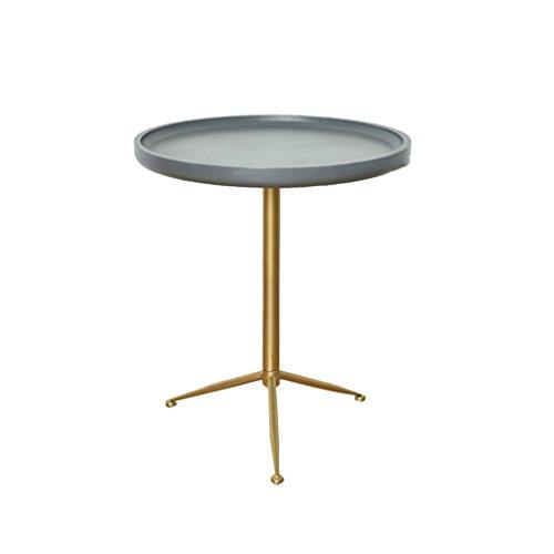 ZWD Fer Art Table Basse, Table De Thé Canapé Côté Creative Multifonction Table Salon Restaurant Côté Rond Décoration Loisirs Table Meubles (Taille : 49 * 56CM)